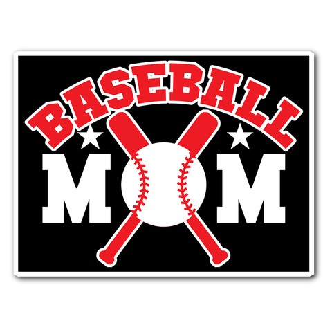 Baseball Mom Vinyl Sticker (Free Shipping)