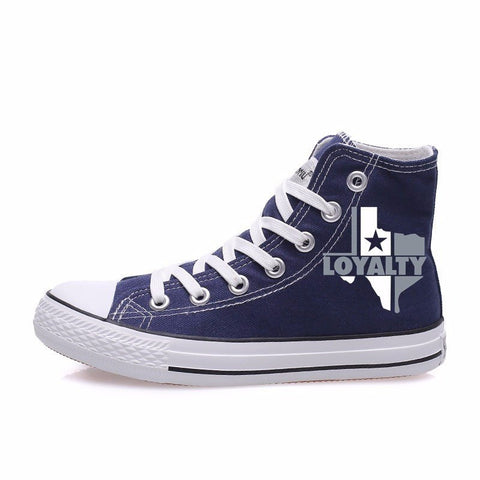 Custom Printed High Top Canvas Shoes - Dallas Loyalty