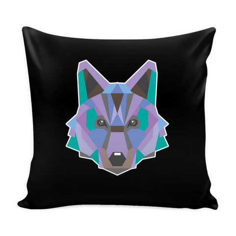 Polygon Wolf Pillow Cover (Free Shipping)