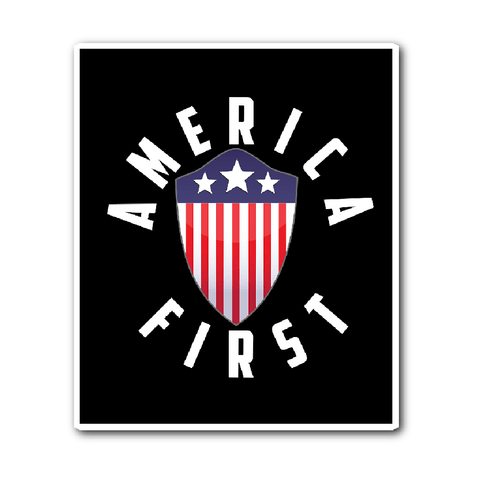 America First Vinyl Sticker (Free Shipping)