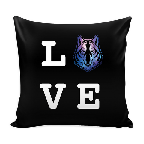 Wolf Love Pillow Cover (Free Shipping)