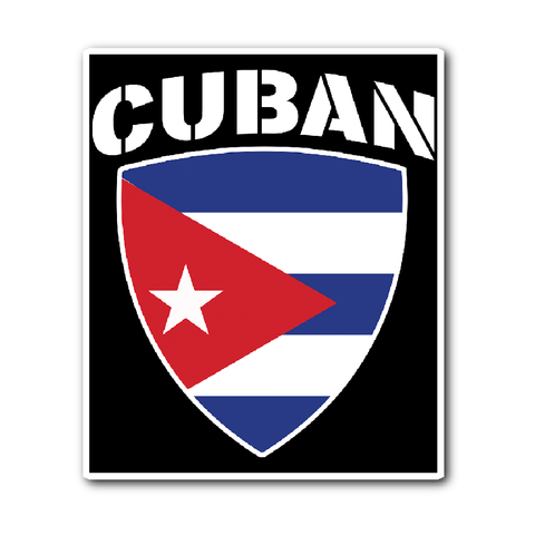 Cuban Pride Vinyl Sticker (Free Shipping)