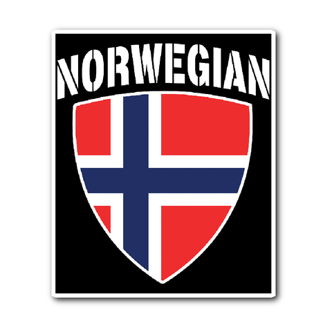 Norwegian Pride Vinyl Sticker (Free Shipping)