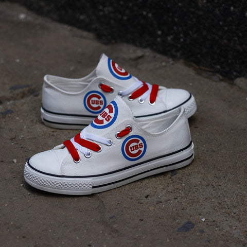 Custom Printed Low Top Canvas Shoes - Cubs Proud