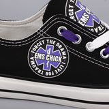 Custom Printed Low Top Canvas Shoes - EMS Chick - $40 Clearance