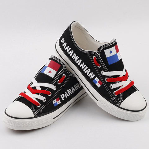Panamanian Flag Pride Shoes Low Top Canvas Custom Printed Sneakers