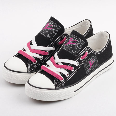 Dance Mom Shoes Low Top Canvas Custom Printed Sneakers