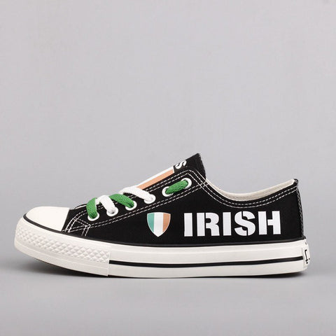 Custom Printed Low Top Canvas Shoes - Irish Strong - $40 Clearance