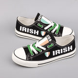 Custom Printed Low Top Canvas Shoes - Irish Strong