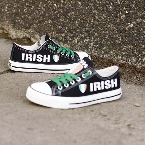 Irish Flag Pride Shoes Low Top Canvas Custom Printed Sneakers