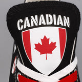Custom Printed Low Top Canvas Shoes - Canadian Pride