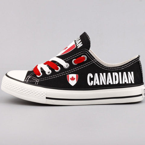 Custom Printed Low Top Canvas Shoes - Canadian Pride - $40 Clearance