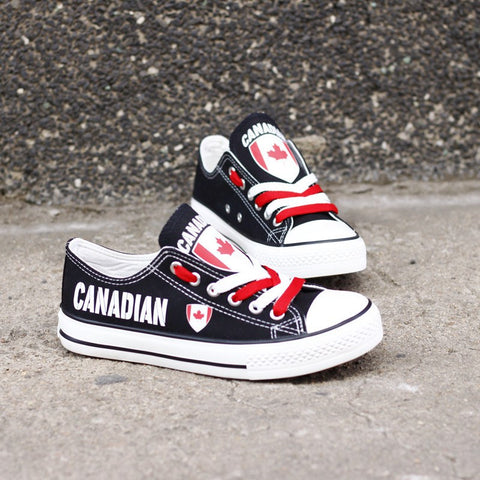 Canadian Flag Pride Shoes Low Top Canvas Custom Printed Sneakers