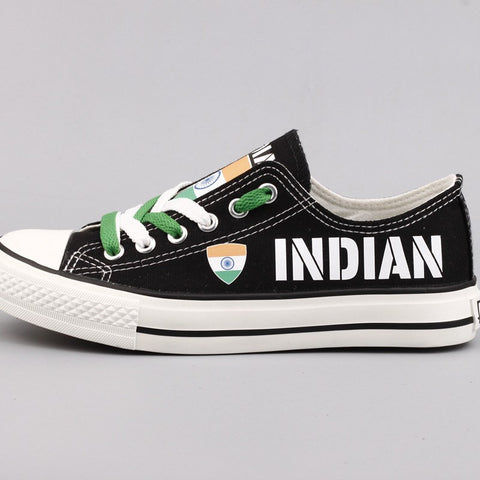 Indian  Flag Pride Shoes Low Top Canvas Custom Printed Sneakers