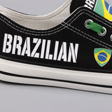 Custom Printed Low Top Canvas Shoes - Brazilian Shoes