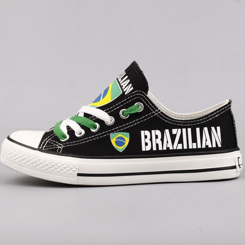 Brazilian Flag Pride Shoes Low Top Canvas Custom Printed Sneakers