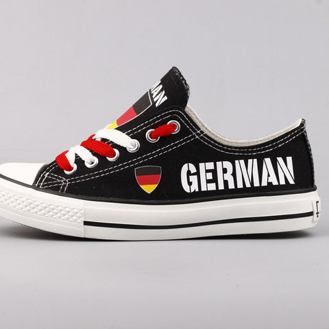 German Flag Pride Shoes Low Top Canvas Custom Printed Sneakers