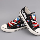 Filipino Flag Pride Shoes Low Top Canvas Custom Printed Sneakers
