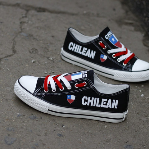 Chilean Fuerte Shoes Low Top Canvas Custom Printed Sneakers