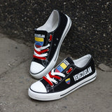 Venezuelan Flag Pride Shoes Low Top Canvas Custom Printed Sneakers