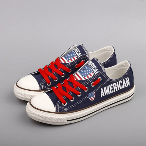 American Flag Pride Shoes Low Top Canvas Custom Printed Sneakers