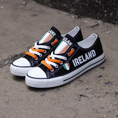Ireland Flag Pride Shoes Low Top Canvas Custom Printed Sneakers