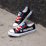 Philippines Flag Pride Low Top Canvas Shoes Custom Printed Sneakers
