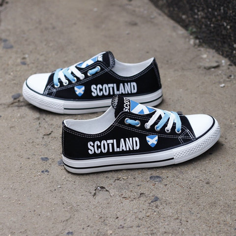 Scotland Flag Pride Shoes Low Top Canvas Custom Printed Sneakers