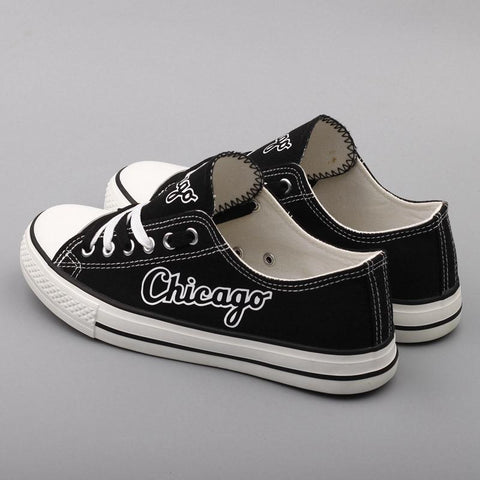 Custom Printed Low Top Canvas Shoes - Chicago Proud