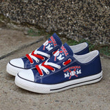 Custom Printed Low Top Canvas Shoes - Softball Mom