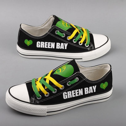 Green Bay Football Shoes Low Top Canvas Custom Printed Sneakers