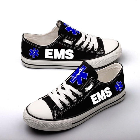EMS Shoes Low Top Canvas Custom Printed Sneakers