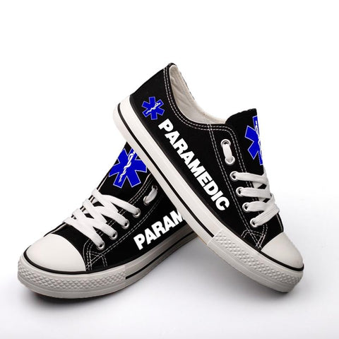 Paramedic Pride Low Top Canvas Shoes Custom Printed Sneakers