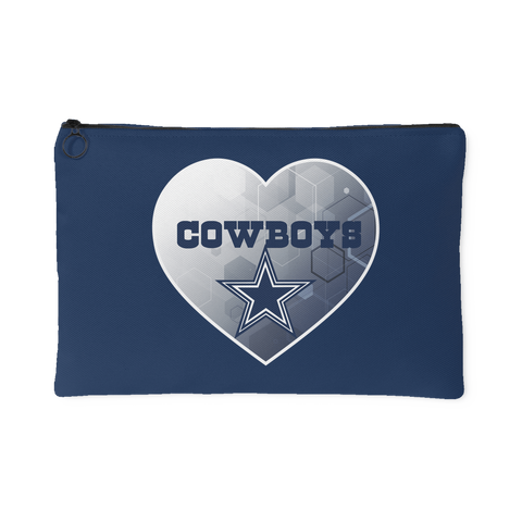 Dallas Cowboys Patterned Heart Accessory Bag (Free Shipping)