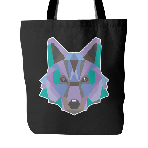 Polygon Wolf Tote Bag (Free Shipping)
