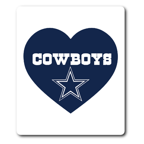 Dallas Cowboys Simple Heart Vinyl Sticker (Free Shipping)