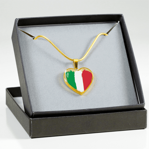 Italian Love Adjustable Necklace or Bangle Bracelet
