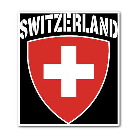 Switzerland Pride Vinyl Sticker (Free Shipping)