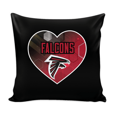 Atlanta Falcons Patterned Heart Pillow Cover (Free Shipping)