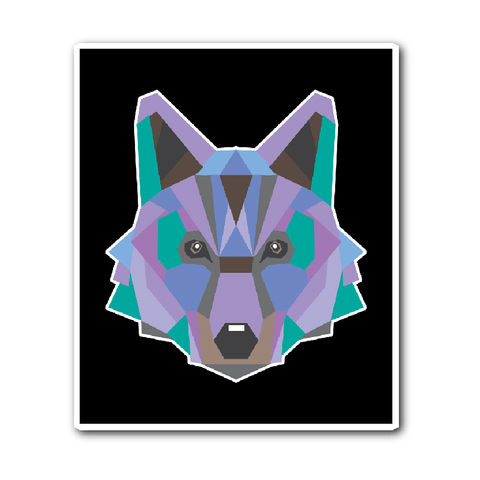 Polygon Wolf Vinyl Sticker (Free Shipping)