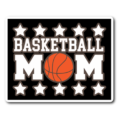Basketball Mom Vinyl Sticker (Free Shipping)