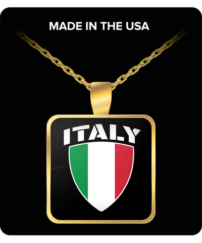 Italy Pride Gold Plated Necklace