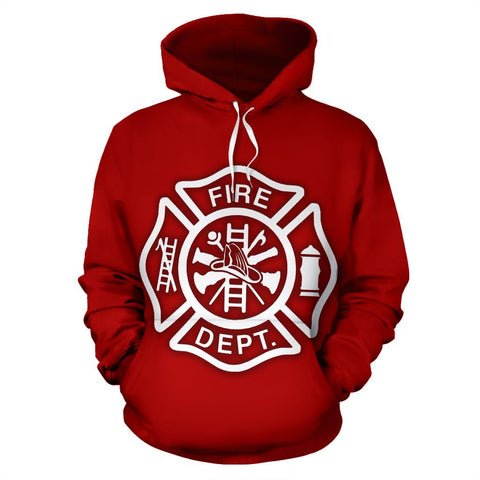 Firefighter Large Print Hoodie