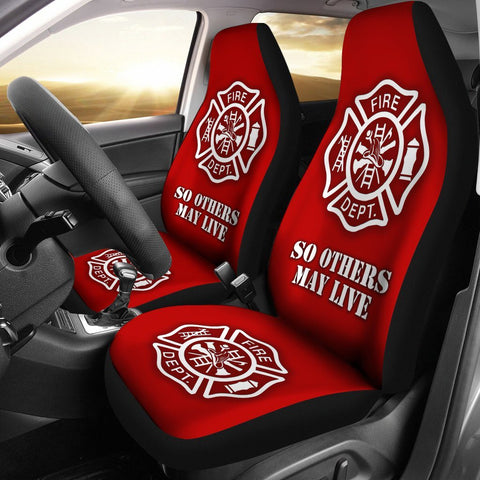 Firefighter Car Seat Covers - Custom Printed (set of 2)