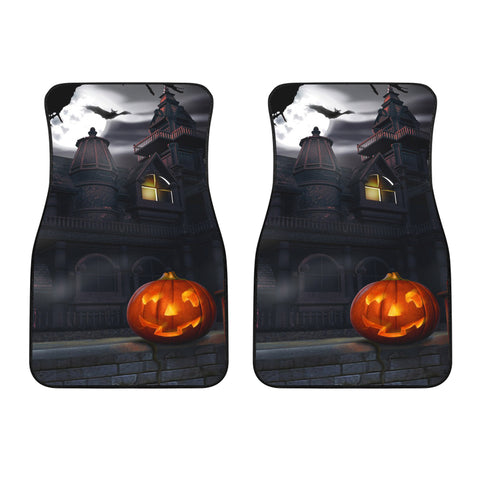 Haunted House Halloween Car Floor Mats