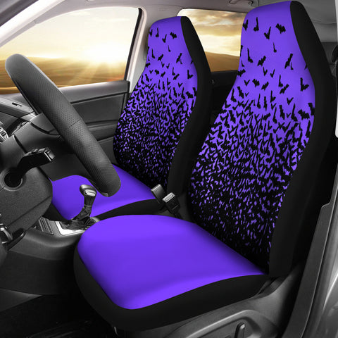 Halloween Bats Purple Car Seat Covers