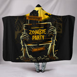 Zombie Party Halloween Plush Blanket
