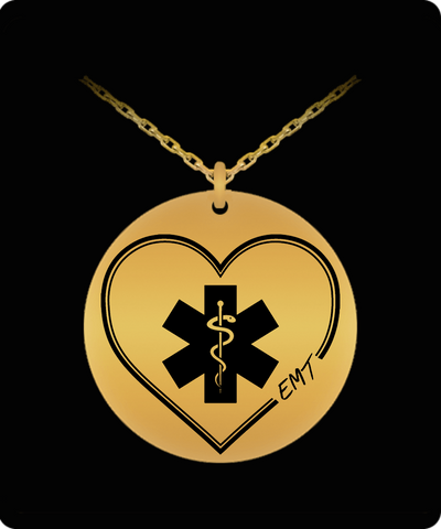 EMT Love 18K Gold Plated Laser Engraved Necklace