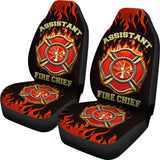 Assistant Fire Chief Custom Printed Car Seat Covers (set of 2)