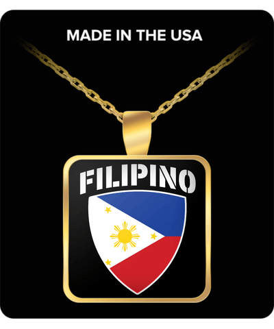 FILIPINO PRIDE GOLD PLATED NECKLACE